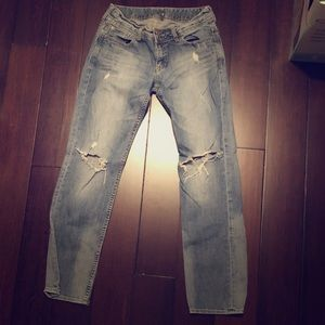 EXPRESS distressed boyfriend jeans